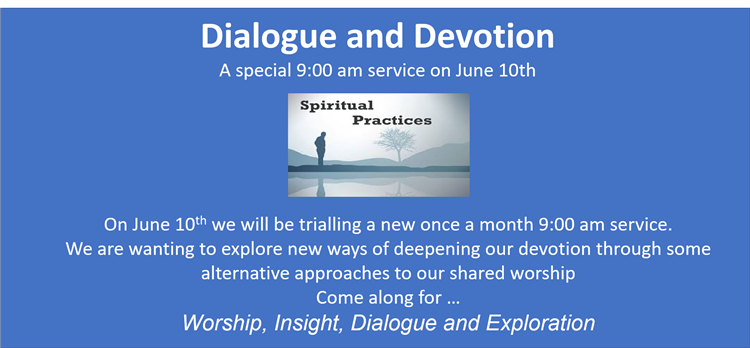 Dialogue and Devotion 10th Jun